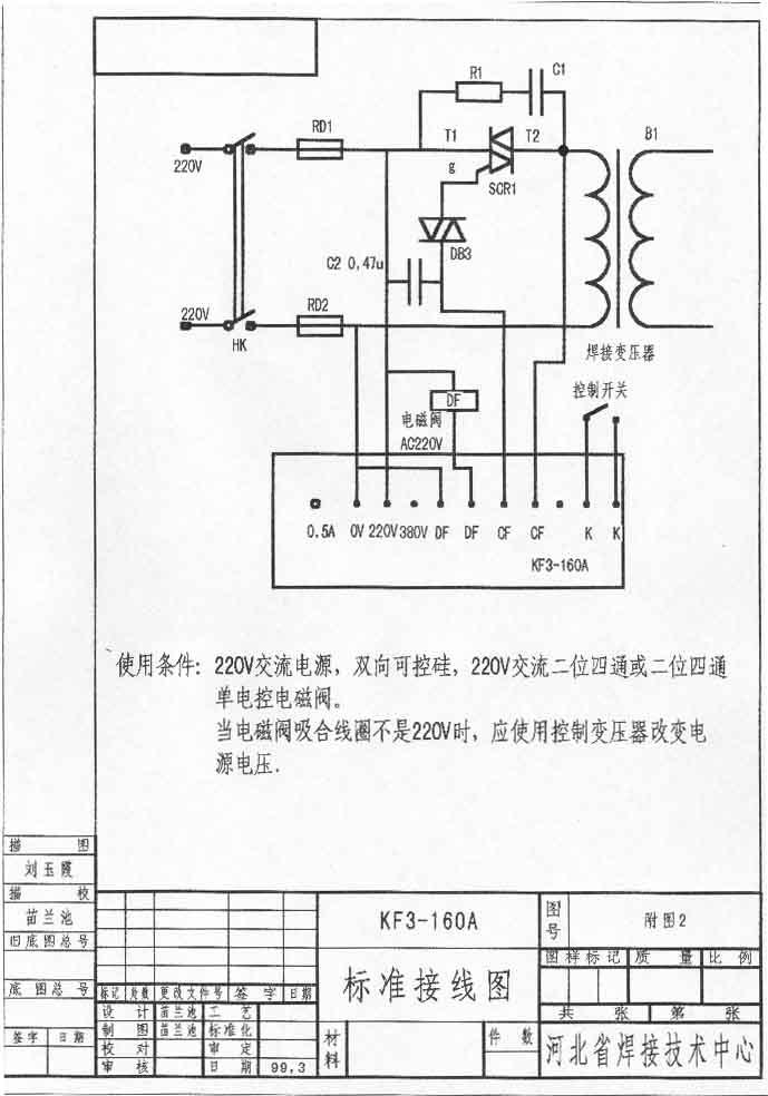 KF3-160精密缝焊控制器 KF3-160 精密缝焊控制器是根据市场的需要而专门设计制造的低成本高精度高可靠性的气动焊接控制设备,可以适用于电焊网片、异性标准件、各种零配件的单头及多头气动点焊、缝焊,更适用于普通焊接设备的技术改造,以提高焊接性能达到工件的焊接技术工艺要求,该控制器能够实现压紧、焊接、维持、休止四个焊接控制过程的基本焊接规范,因为采用气动加压方式,焊接压力稳定且调整方便,程序式的控制方式能充分保证焊接工件的一致性,与普通脚踏加压方式的焊接设备相比能降低生产者的劳动强度,加之具有焊接能量和